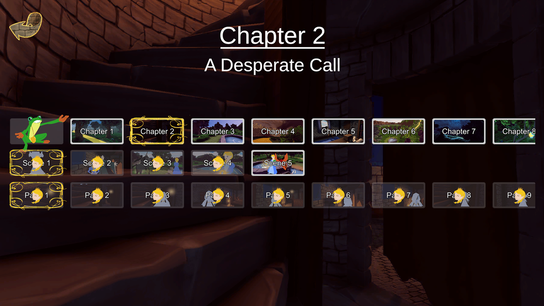 Screen shot of navigation - chapter - scene - page